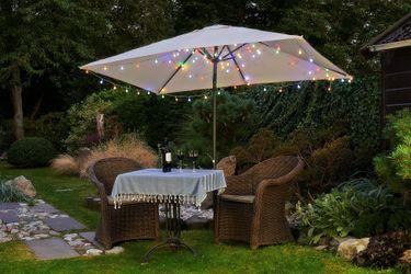 LED Lichterkette 4,80 m Bunte LEDs 24er Partylichterkette Gartenbeleuchtung [2]