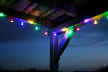 LED Lichterkette 4,80 m Bunte LEDs 24er Partylichterkette Gartenbeleuchtung [1]