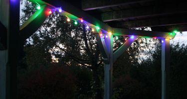 LED Lichterkette 4,80 m Bunte LEDs 24er Partylichterkette Gartenbeleuchtung [3]