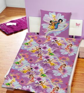 Disney Marvel Mikrofaser 2 tlg. Kinder Bettwäsche 135x200cm PLANES oder FAIRIES  [3]