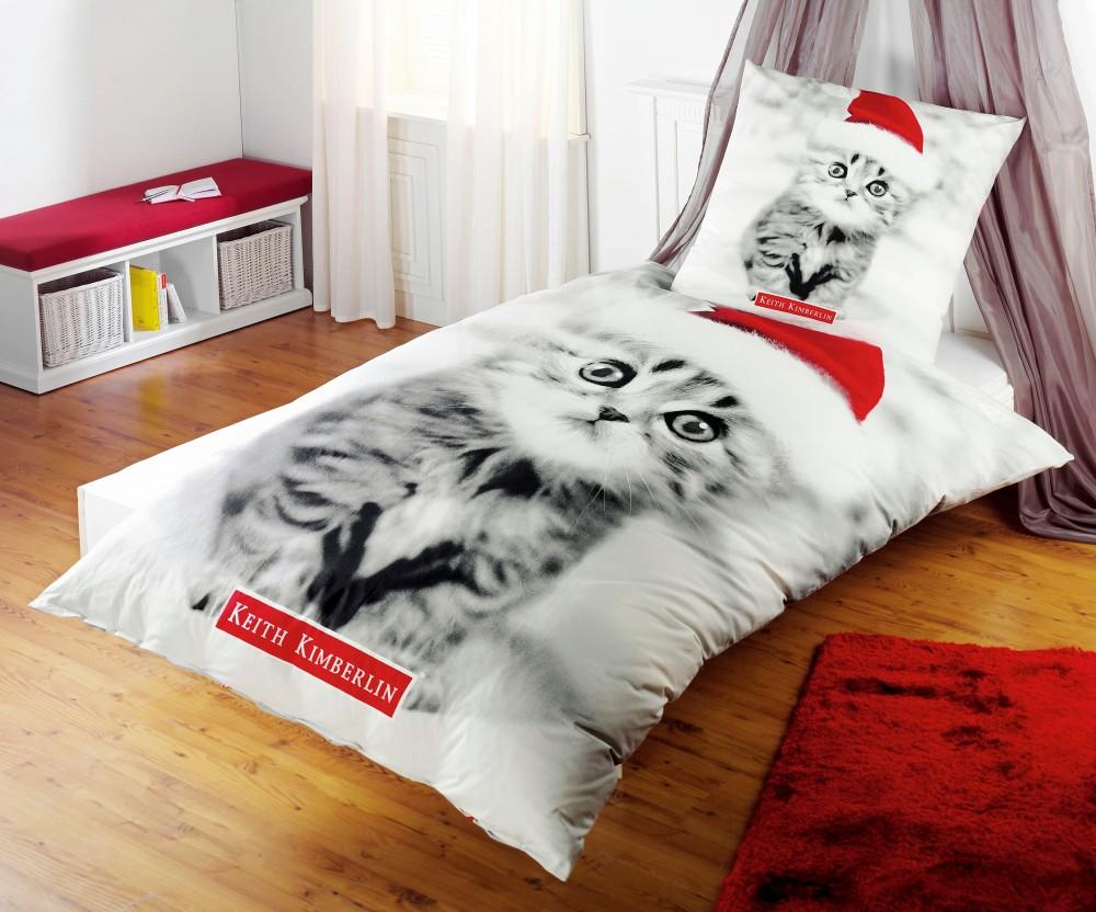 keith kimberlin renforc wende bettw sche santa kitten. Black Bedroom Furniture Sets. Home Design Ideas