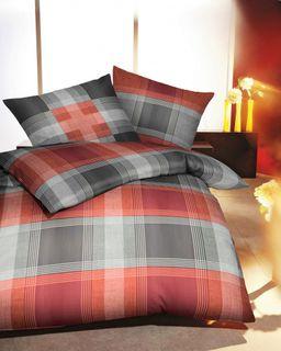 kaeppel microfaser flanell bettw sche cabin rot karos. Black Bedroom Furniture Sets. Home Design Ideas