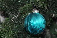 JACK 59x Glas Christbaumkugeln 4 5 6 7 cm Eislack Petrol Weiß Weihnachtskugeln 3