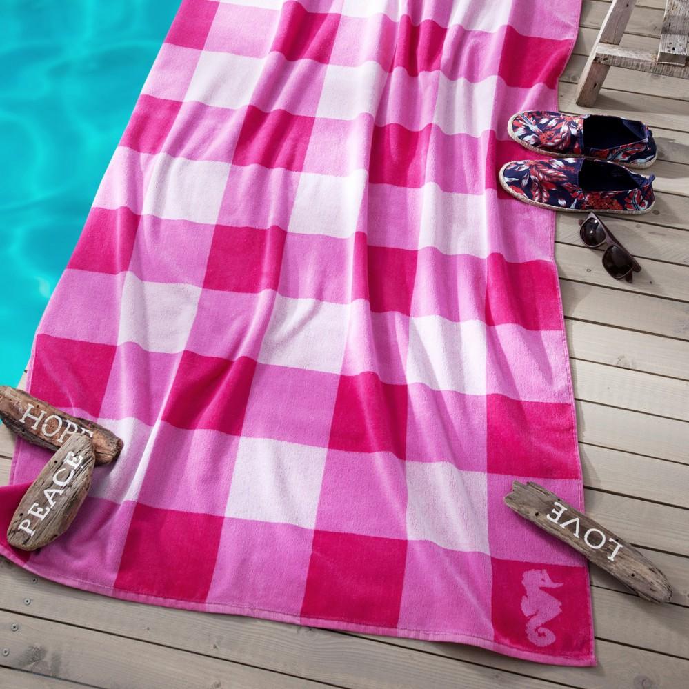 seahorse strandtuch playa 100x180cm karos xxl handtuch 4. Black Bedroom Furniture Sets. Home Design Ideas