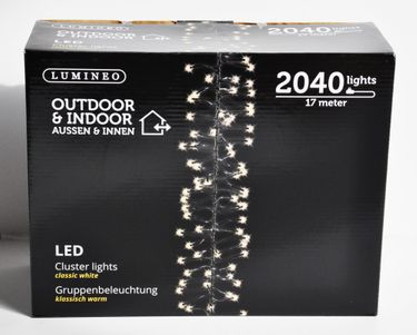 2040 LED Cluster Lichterkette Warm Weiß LEDs 17m Büschel Kluster Lights [3]