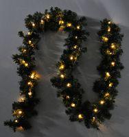 LED Girlande mit Lichterkette Grün 2,7m/5m/10m/15m/20m Tannengirlande Warmweiß 10