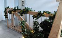 LED Girlande mit Lichterkette Grün 2,7m/5m/10m/15m/20m Tannengirlande Warmweiß 7