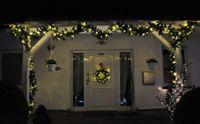 LED Girlande mit Lichterkette Grün 2,7m/5m/10m/15m/20m Tannengirlande Warmweiß 3