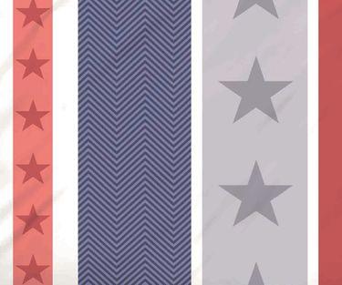 Biberna Fein Biber Bettwäsche 2 tlg. Sterne 135x200cm Sterne Blau Rot Grau [3]