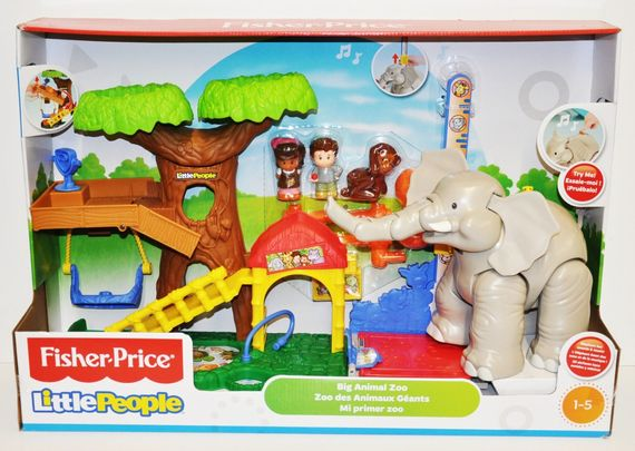 Fisher Price CHF55 Little People Maxi Tierwelt Zoo