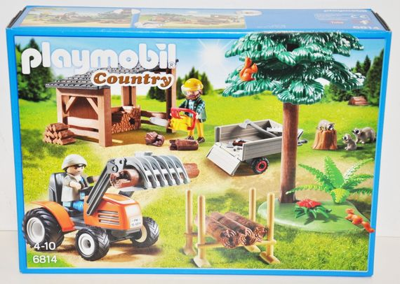Playmobil 6814 Holzfäller mit Traktor