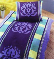 Dormisette Edel Flanell Bettwäsche 135x200cm Ornamente Gelb Blau 2