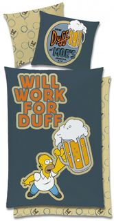Global Labels Renforce Bettwäsche Simpsons 135x200cm Class Clown Will Work Duff [3]