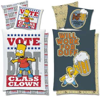 Global Labels Renforce Bettwäsche Simpsons 135x200cm Class Clown Will Work Duff [1]