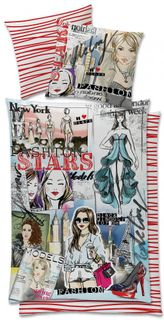 Global Labels Renforce Bettwäsche 135x200cm Fashion Stars Mode Models [1]