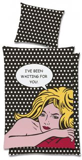 Global Labels Pop Art Renforce Bettwäsche 135x200cm Missing you Waiting for you [2]