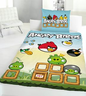 Global Labels Renforce Wende Bettwäsche Angry Birds Game 135x200cm [1]
