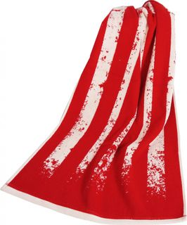 Handtuch Badetuch Streifen Rot Creme 2 Größen Flaggenoptik [1]