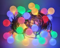 LED Lichterkette Bunt oder Warmweiß Partylichterkette LEDs stabile Kugeln IP44 4