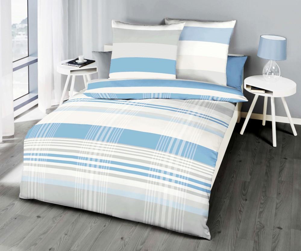 kaeppel renforc linon bettw sche prime time streifen. Black Bedroom Furniture Sets. Home Design Ideas