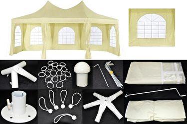 Pavillon Milano Ersatzteile 6,8 x 5 m Dach Seitenteile Verbinder Fuß Metro [1]