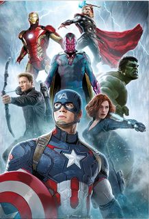 Renforcé Bettwäsche Age of Ultron 135x200cm 2 tlg. Marvel Avengers Global Labels [3]