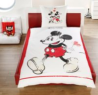 Disney Linon / Renforcé Wende Bettwäsche Mickey + Minnie Mouse 135x200cm 2 tlg. 2