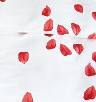 Mako Fein Batist Edel Bettwäsche 2 tlg. 135x200cm Rosenträume Rot Weiß 3