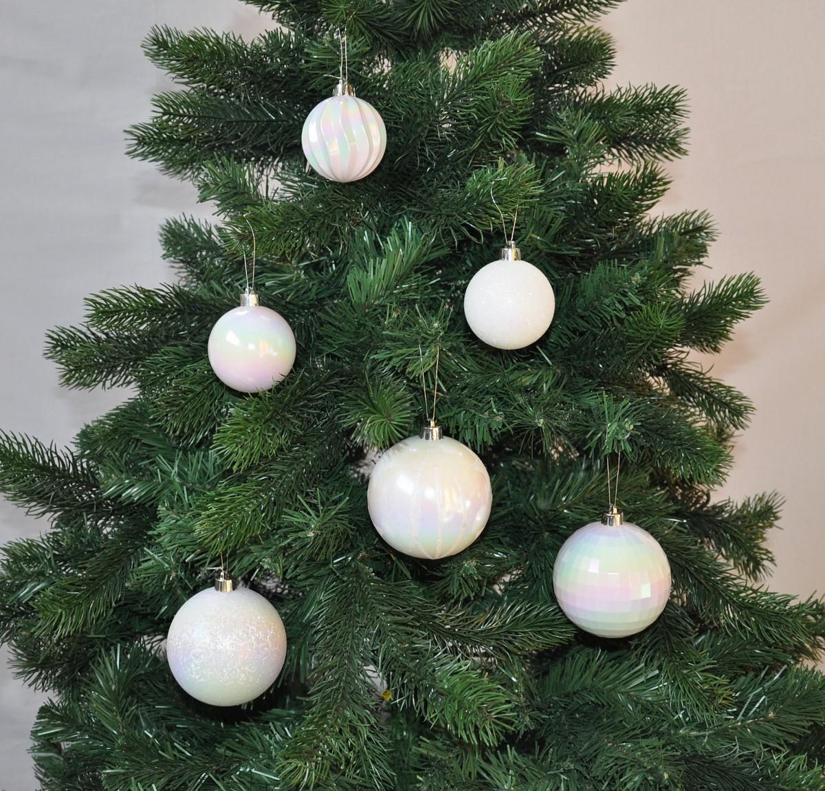 30x christbaumkugeln 6 8 cm kunststoff matt glanz glitzer braun lila pink weihnachten. Black Bedroom Furniture Sets. Home Design Ideas
