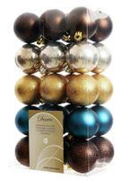 30x Christbaumkugeln Kunststoff 6 cm Gold / Rot / Bunt / Kupfer Weihnachtskugeln 22