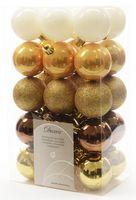 30x Christbaumkugeln Kunststoff 6 cm Gold / Rot / Bunt / Kupfer Weihnachtskugeln 7