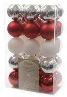 30x Christbaumkugeln Kunststoff 6 cm Gold / Rot / Bunt / Kupfer Weihnachtskugeln 8