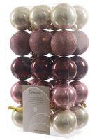 30x Christbaumkugeln Kunststoff 6 cm Gold / Rot / Bunt / Kupfer Weihnachtskugeln 11