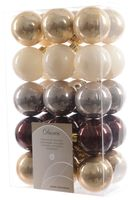 30x Christbaumkugeln Kunststoff 6 cm Gold / Rot / Bunt / Kupfer Weihnachtskugeln 16