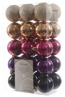 30x Christbaumkugeln Kunststoff 6 cm Gold / Rot / Bunt / Kupfer Weihnachtskugeln 13