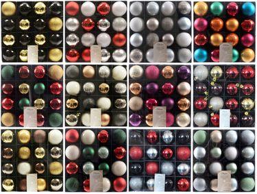 16x Kunststoff Christbaumkugeln 6cm Gold / Rot / Bunt / Weiß Weihnachtskugeln [1]