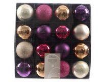 16x Kunststoff Christbaumkugeln 6cm Gold / Rot / Bunt / Weiß Weihnachtskugeln 10