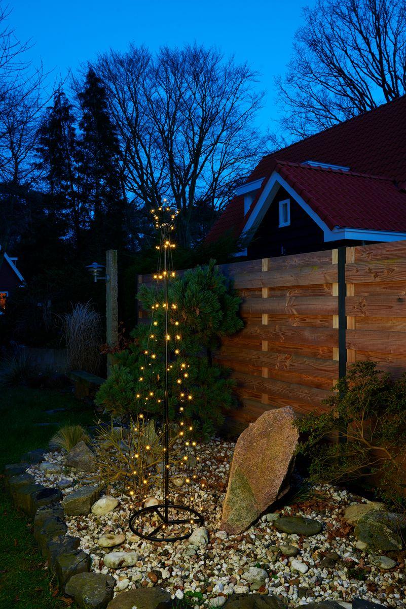 led kegel lichterbaum warmwei stern deko baum pyramide. Black Bedroom Furniture Sets. Home Design Ideas