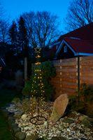 LED Kegel Lichterbaum Warmweiß Stern Deko Baum Pyramide Außen 3