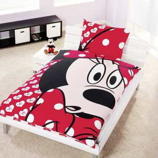 "Disney Renforcé Wende Bettwäsche 135x200cm 2 tlg Minnie Mouse ""Big Eyes"" [1]"