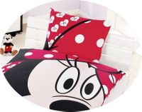 "Disney Renforcé Wende Bettwäsche 135x200cm 2 tlg Minnie Mouse ""Big Eyes"" 2"