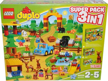 Lego Duplo 66538 Wildpark Super Pack 3-in-1 10584+10582+10581 [1]