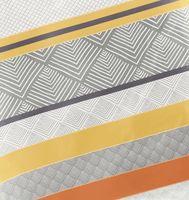 Bierbaum Biber Bettwäsche 200x200cm 3 tlg. Streifen Rost Terra Grau 3
