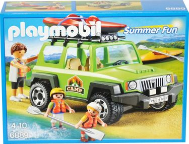Playmobil Summer Fun 6889 Camp-Geländewagen Jeep mit Boot 001