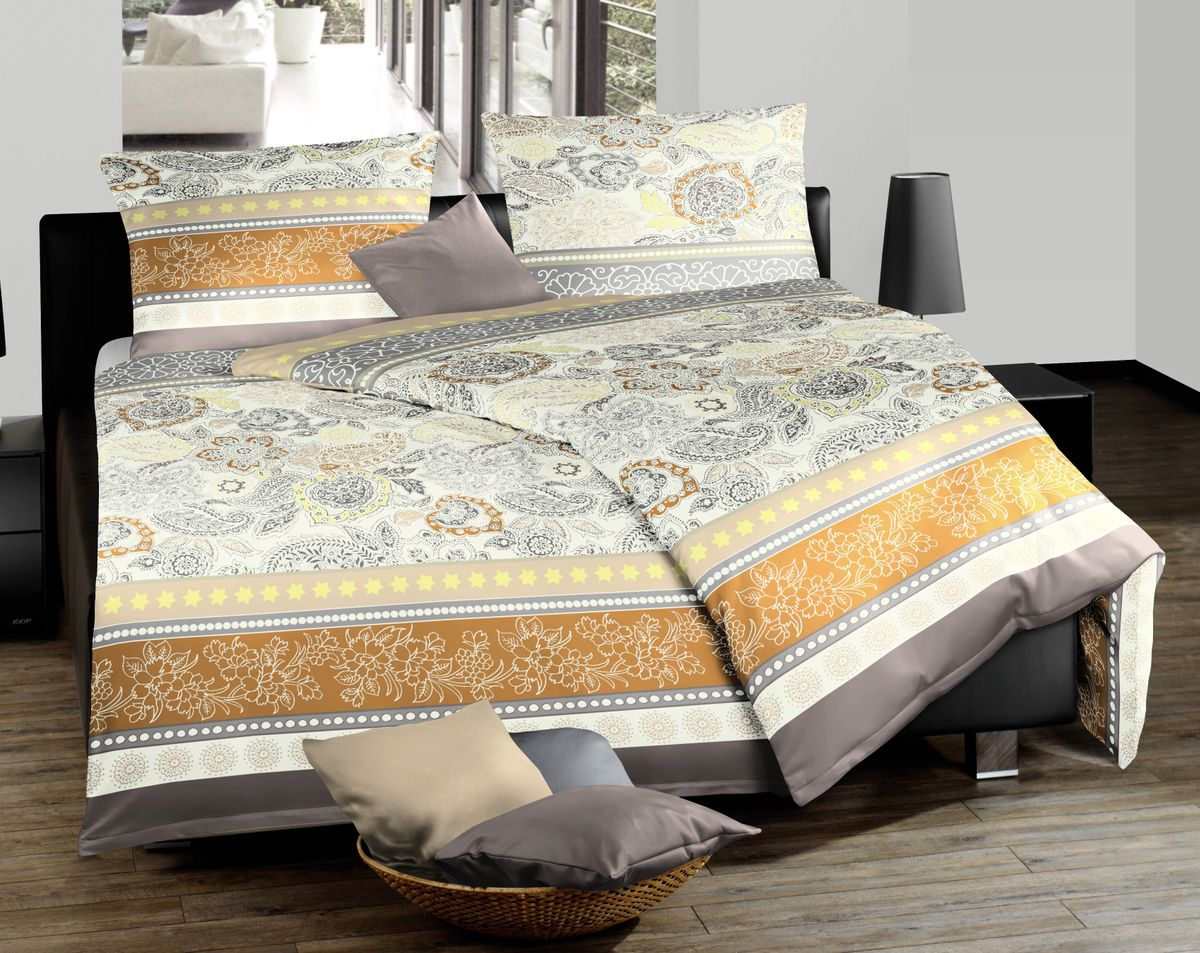 fleuresse mako satin bettw sche 2 tlg 135x200cm paisley. Black Bedroom Furniture Sets. Home Design Ideas