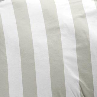 Renforcé / Linon Streifen Bettwäsche 135x200cm 2 tlg. Grau Weiß [3]