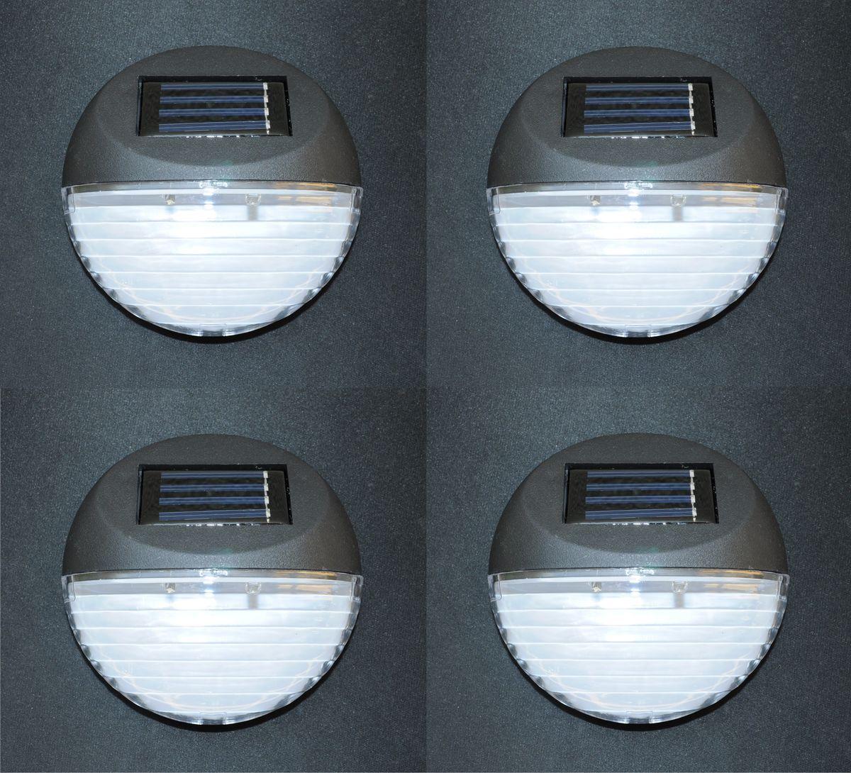 solar led treppenleuchte wandleuchte zaunleuchte weglampe 4er set beleuchtung ebay. Black Bedroom Furniture Sets. Home Design Ideas