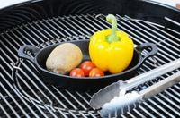 Gusseisen Schale Bratpfanne Grillpfanne Pfanne Grill verschiedene Größen 4