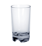 Set of 6 piece Cocktail glass plastic SAN reusable and light 0,3l (without filling mark)