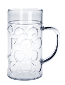 30 piece Beer mug 1l SAN Crystal clear of plastic dishwasher safe and food safe – Bild 1